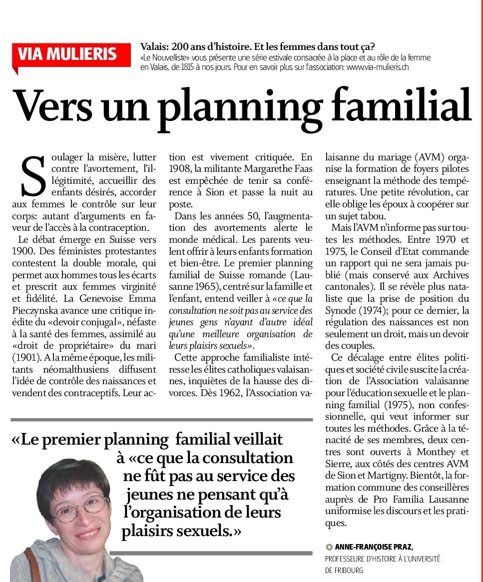 Vers un planning familial