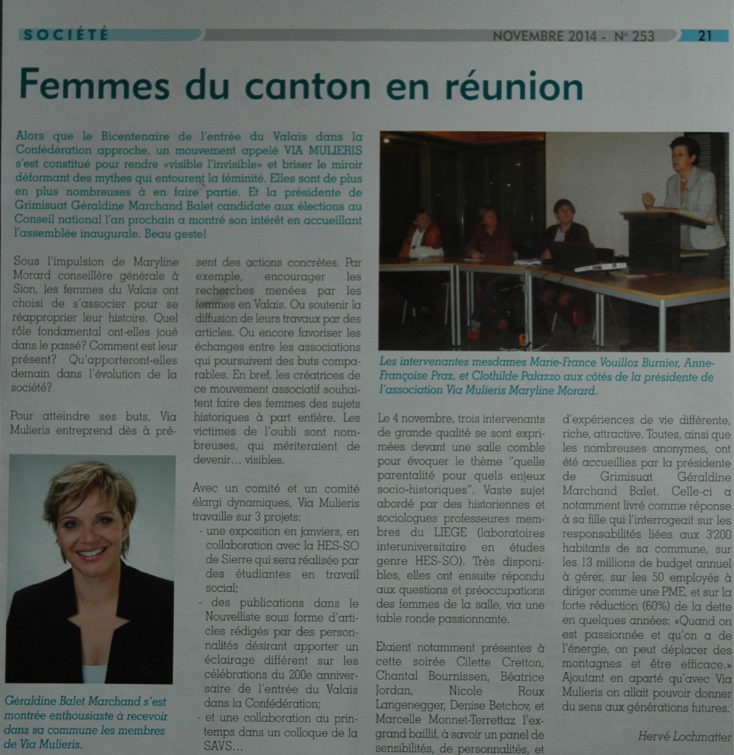 Femmes du canton en réunion