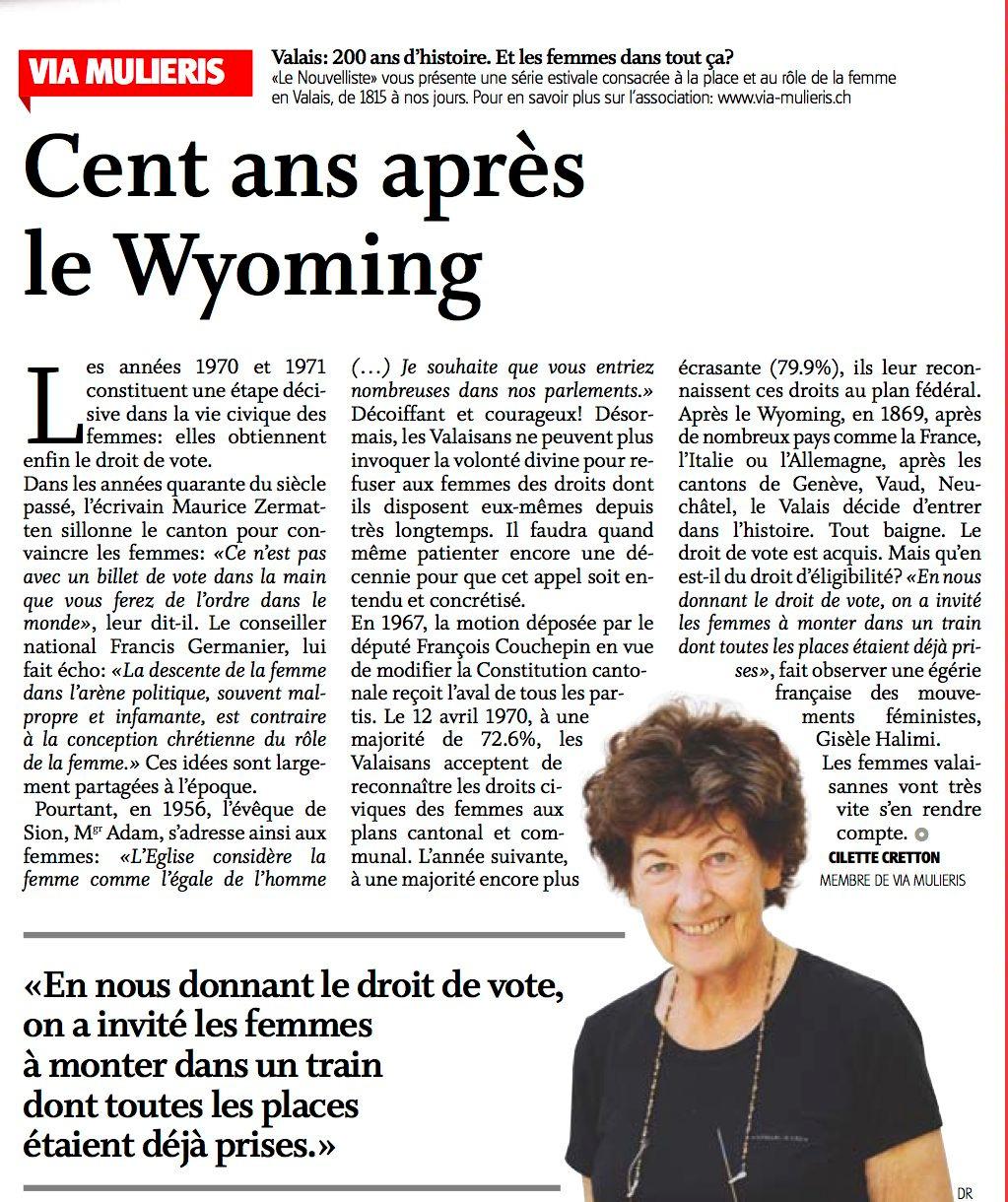 Cent ans après le Wyoming
