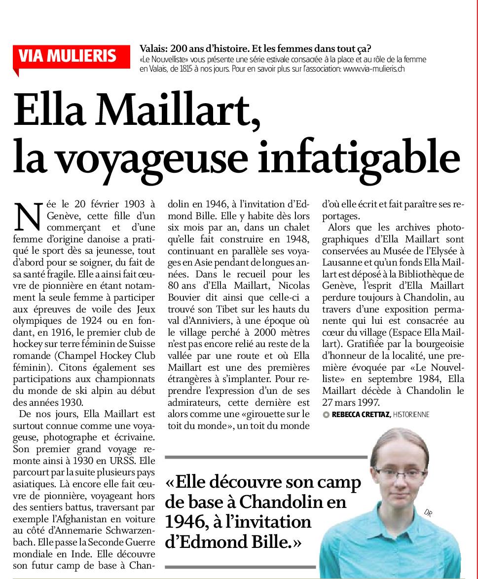 Ella Maillart, la voyageuse infatigable