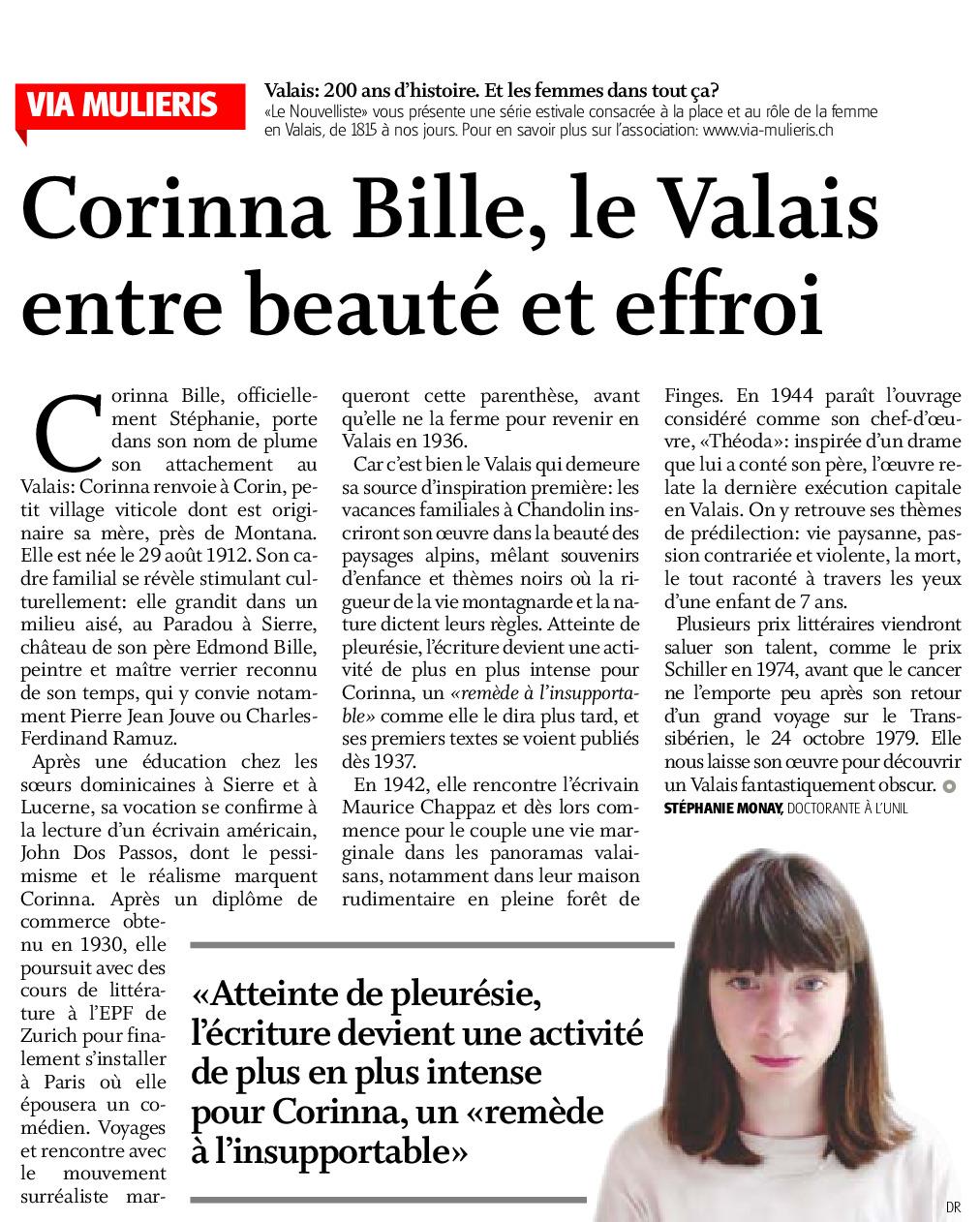 Corinna Bille, le Valais entre beauté et effroi
