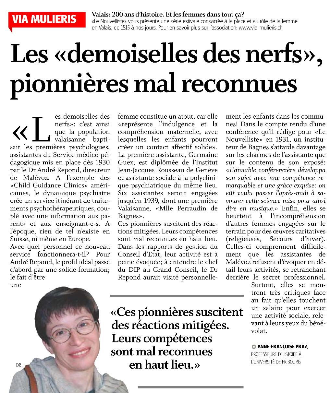 Les « Demoiselles des nerfs », pionnières mal reconnues