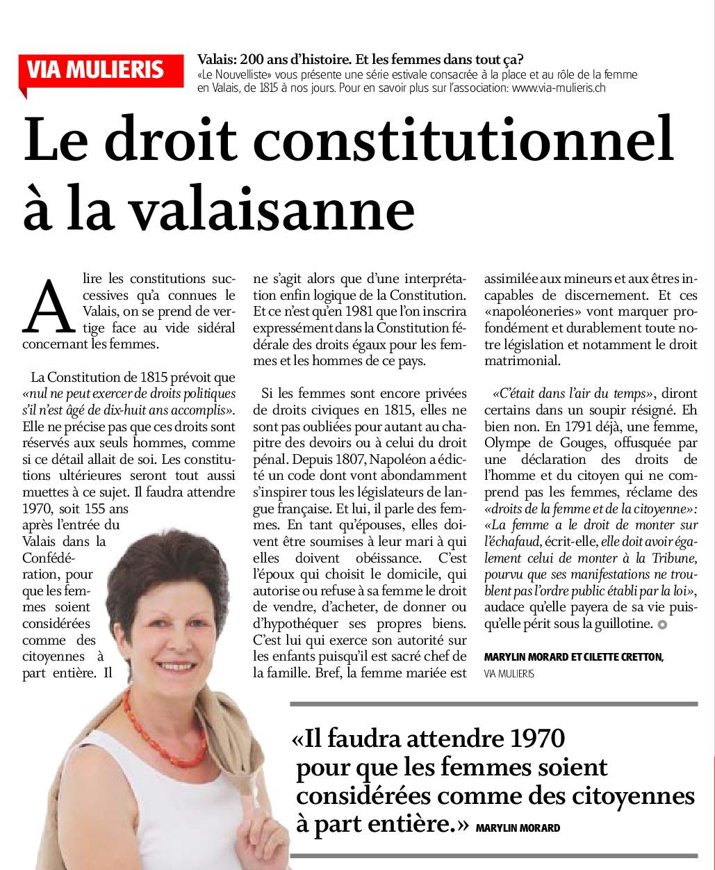 Le droit constitutionnel à la valaisanne