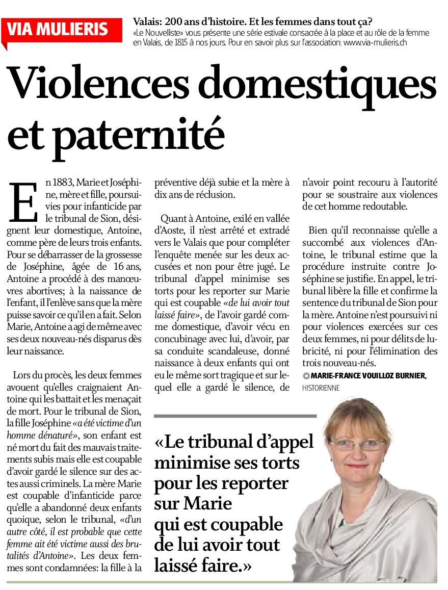 Violences domestiques et paternité