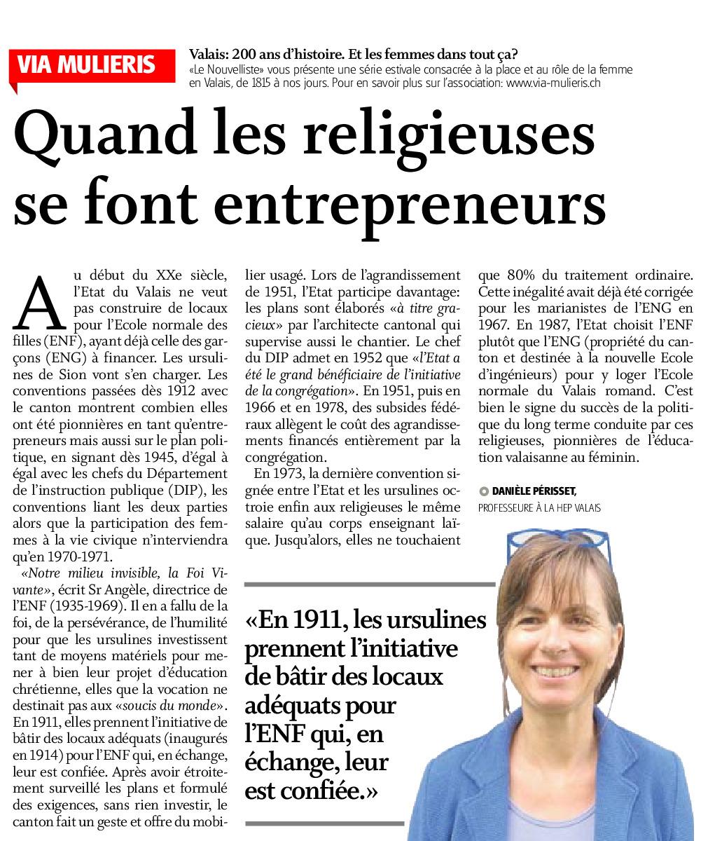 Quand les religieuses se font entrepreneurs