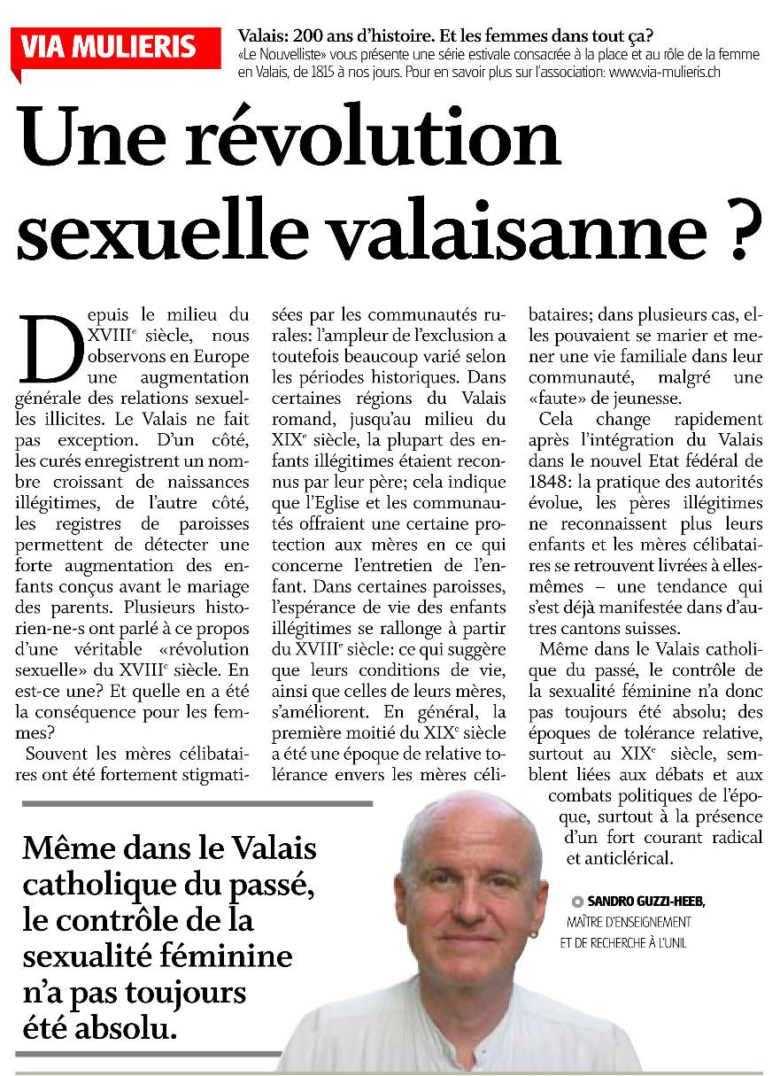 Une révolution sexuelle en Valais