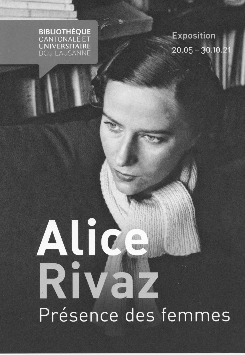 Alice Rivaz «présence des femmes»